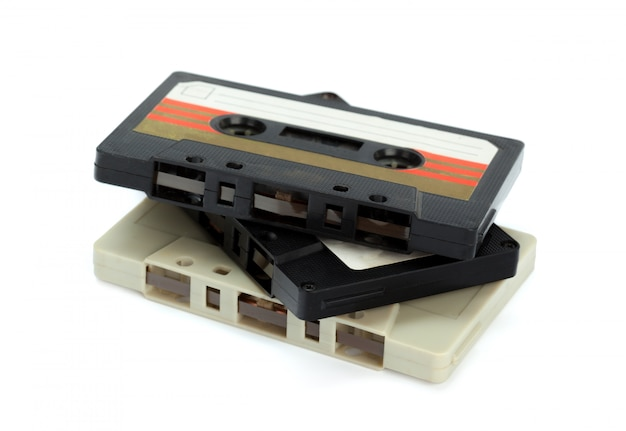 Vintage cassette tape isolated
