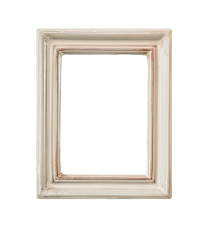 Vintage ceramic frame isolated on white background