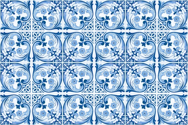 Vintage ceramic tiles wall decoration.turkish ceramic tiles wall background