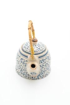 白に設定されたヴィンテージ中国茶