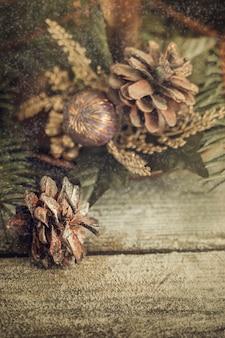 빈티지 크리스마스와 새 해 인사 카드