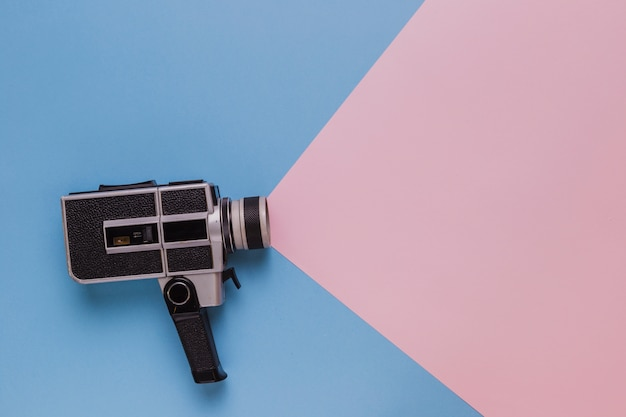 Vintage cinema videocamera