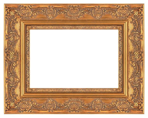 Угол винтаж классический кадр, изолированные на белом фоне