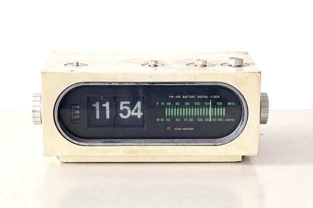 Vintage clock radio set