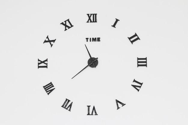 Vintage clocks on wall