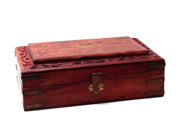 Vintage closed wooden box