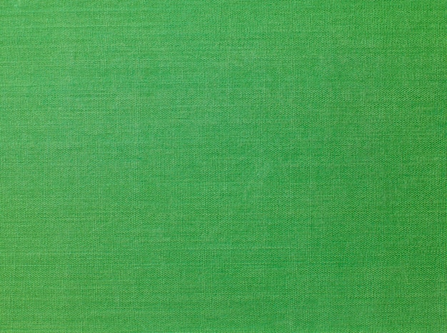 A vintage cloth book cover with a green background