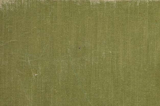 A vintage cloth book cover with green screen pattern