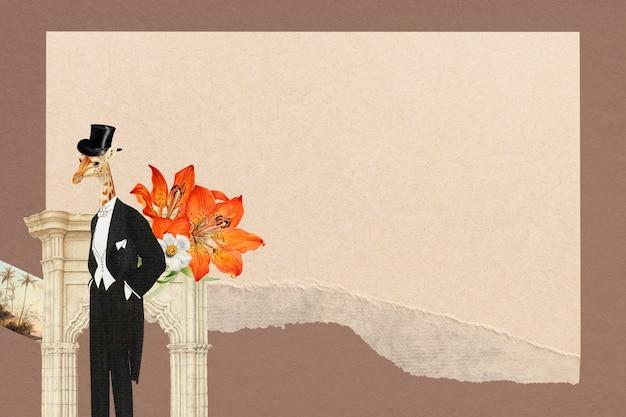 Винтажный коллаж кадр обои фон, текстура бумаги с пространством дизайна