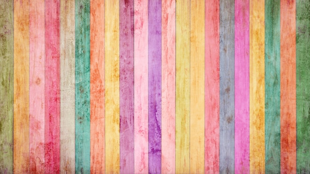 Vintage colorful wood background