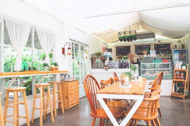 Vintage and cozy style homemade bakery cafe.