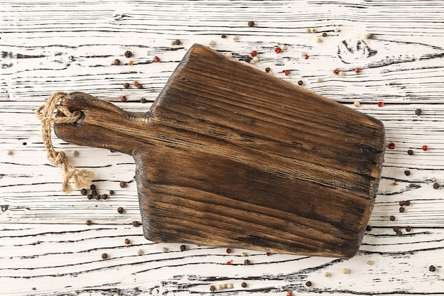 Vintage cutting board with space for text