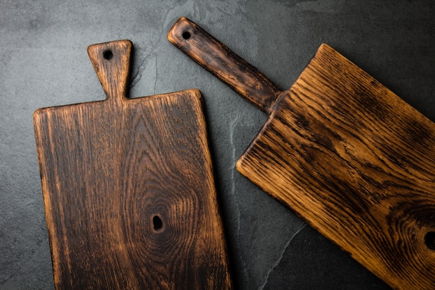 Vintage cutting boards copy space