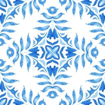 ヴィンテージダマスクシームレス装飾用水彩アラベスクペイントタイルアズレージョ