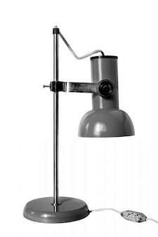 Vintage desk lamp on white