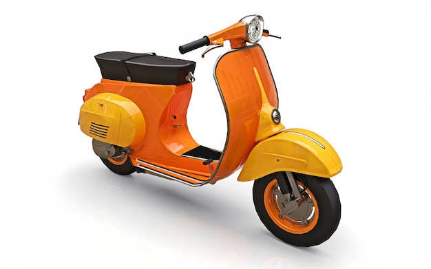 Vintage european orange scooter