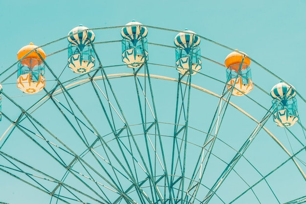 Vintage ferris wheel in the park