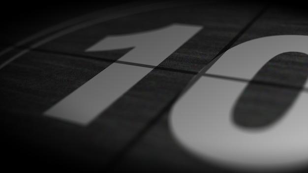 Vintage film countdown 10