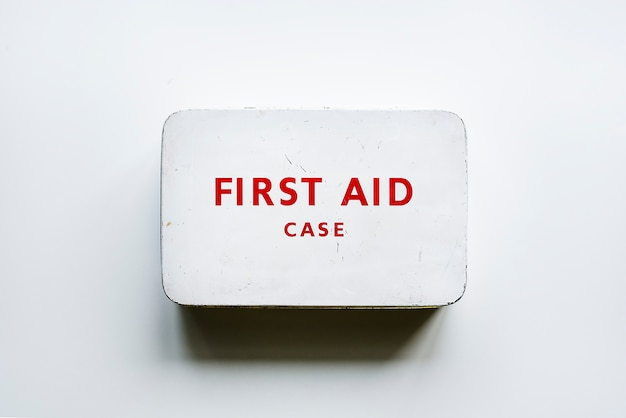 Vintage first aid case