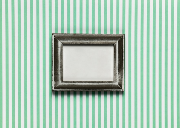 Vintage frame with striped background