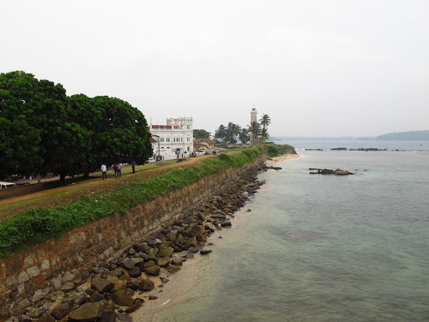 Vintage galle fort, galle city, sri lanka