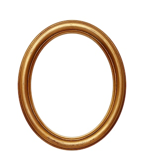 Vintage golden oval round picture frame