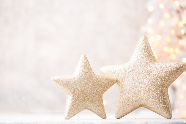 Винтажная золотая звезда, рождественские украшения