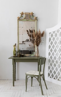 Vintage green dressing table