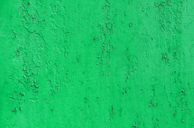 Vintage green painted iron wall