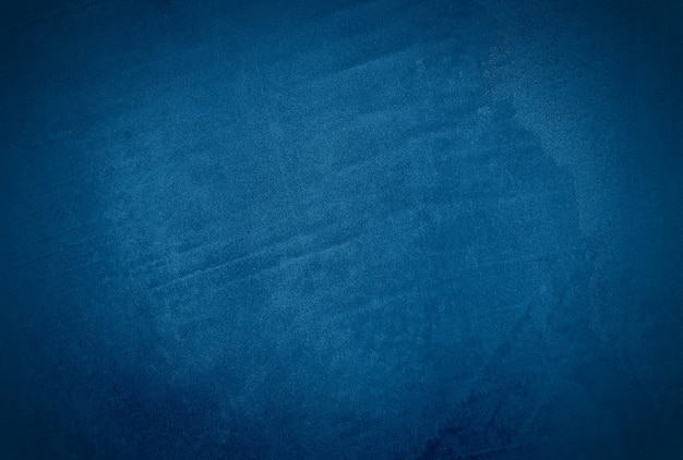 Урожай гранж синий бетонная текстура студия стены фон с виньеткой.
