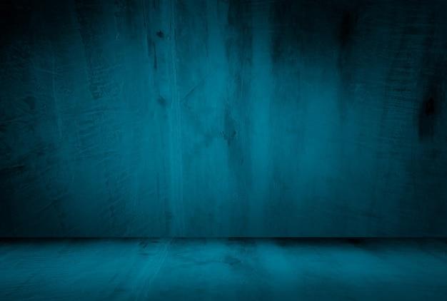삽화와 빈티지 그런 지 블루 콘크리트 질감 스튜디오 벽 배경.