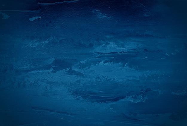 Винтажный гранж синий бетонная текстура стены фон с виньеткой.