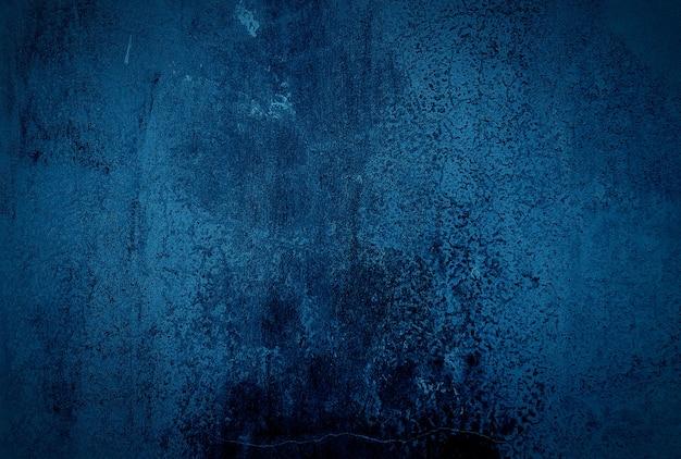 ヴィンテージグランジブルーコンクリートテクスチャ壁の背景