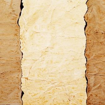 表面のヴィンテージグランジ焦げた紙のテクスチャ