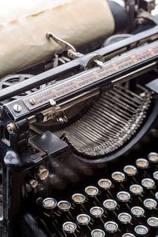 Vintage grunge typewriter closeup