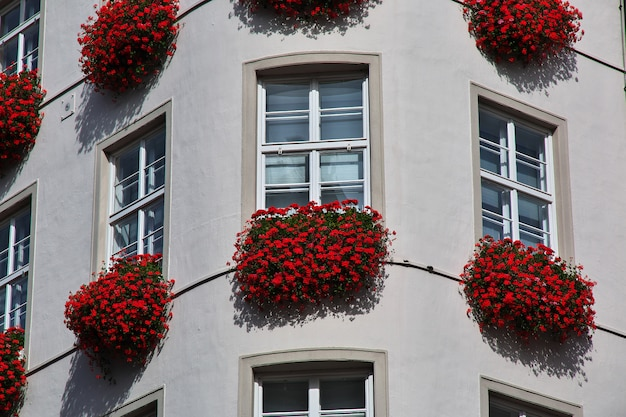 The vintage house on kaufingerstrasse in munich, germany