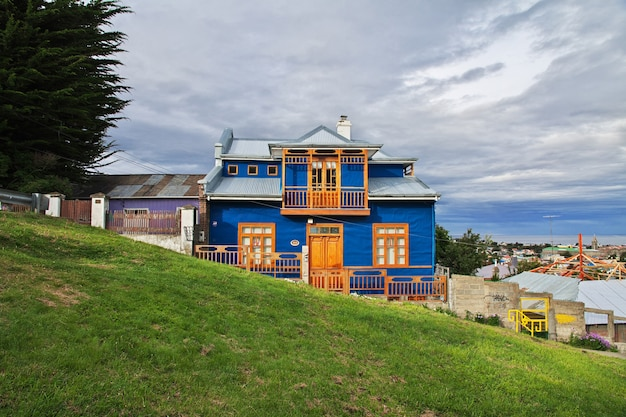 The vintage house in punta arenas in patagonia, chile