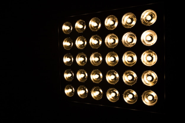 Vintage incandescent bulbs in retro style.