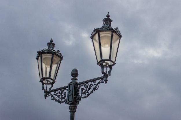 Vintage iron lamps