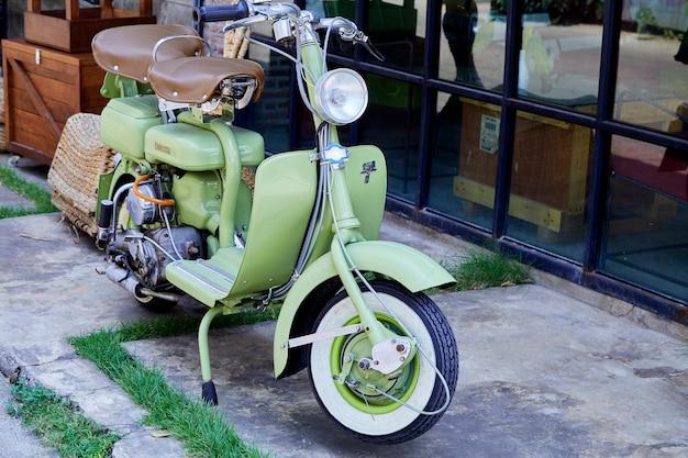 Vintage italian scooter of the lambretta