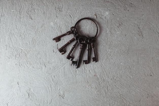 Vintage keys on ring