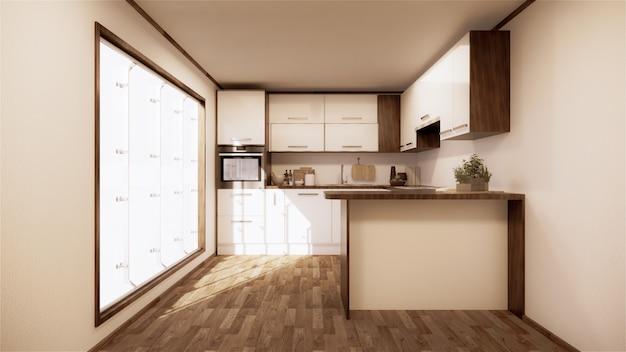 Vintage kitchen room interior japanese style