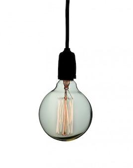 Винтажная лампа изолированная на белизне.