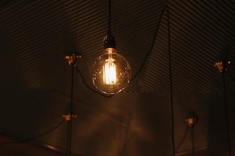 Vintage lamp on ceiling