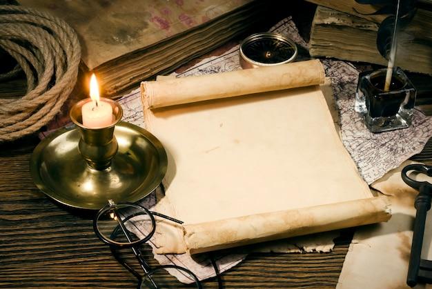 빈티지 편지 개념