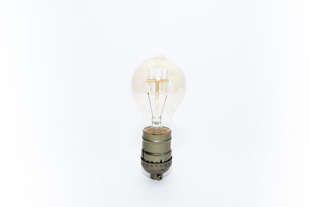 Vintage light bulb isolated on white background