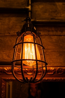 Vintage light bulbs with glower filament