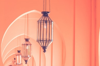 Vintage light lamp morocco architecture style