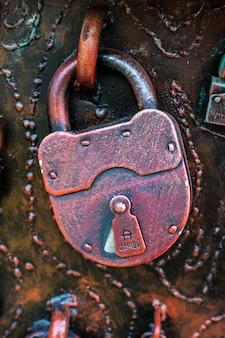 Vintage lock on a door