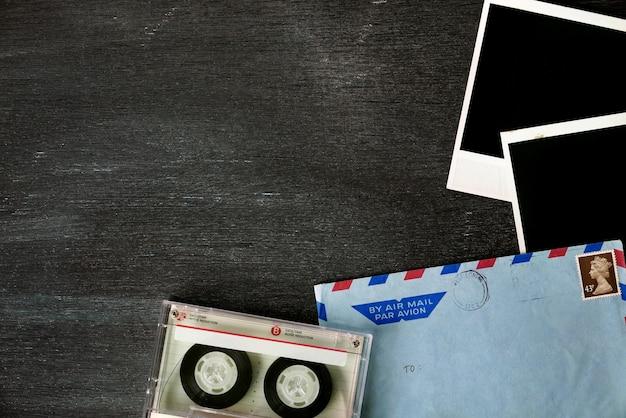 Vintage mail envelope background